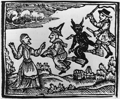 The invention of satanic witchcraft by medieval authorities was initially met with skepticism