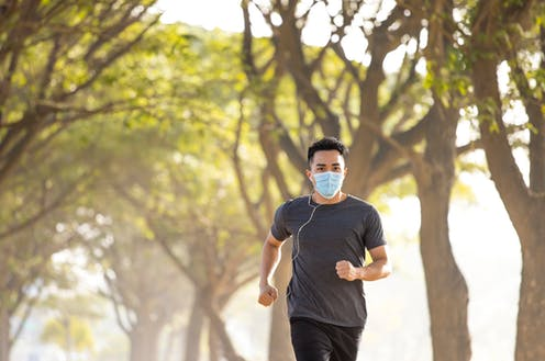Joggers and cyclists should wear masks – here's why